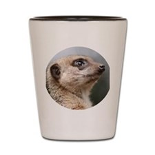 Meerkat Round Cocktail Plate Shot Glass