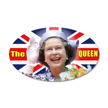HM Queen Elizabeth II 35x21 Oval Wall Decal