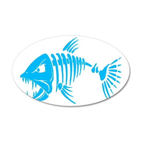 Pirate fish 35x21 Oval Wall Decal