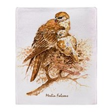 """Birds and Young """"Merlin Falcons"""" Pet Throw Blanket"""