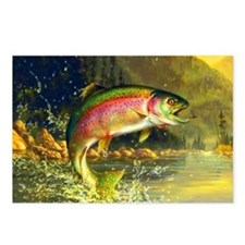 Jumping Rainbow Trout Postcards (Package of 8)