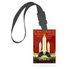 Vintage Chicago Worlds Fair Luggage Tag