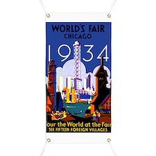 Chicago Worlds Fair 1934 Banner