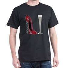 Red Sparkle Corkscrew Stiletto and Ch T-Shirt
