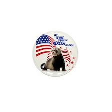 USA Patriotic ferret Mini Button