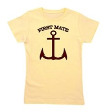 First Mate Boating Anchor Maroon Girl's Tee
