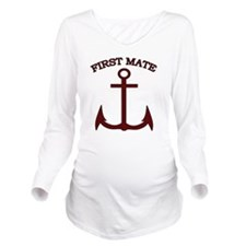 First Mate Boating A Long Sleeve Maternity T-Shirt
