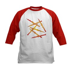 Fiery Oboes Kids Baseball Jersey