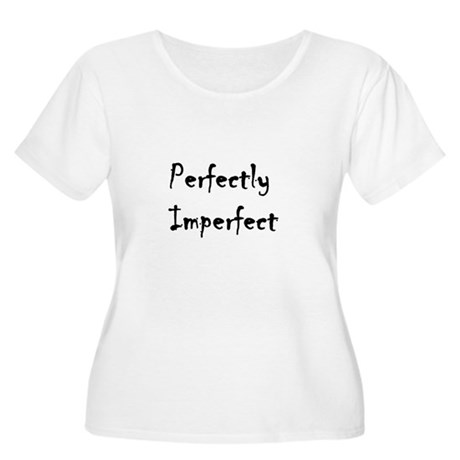 Perfectly Imperfect Logo Women's Plus Size Scoop N