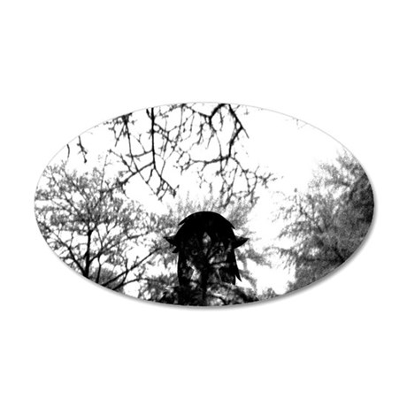 Forest of Antipathy - Wolf-g 35x21 Oval Wall Decal