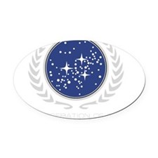 United Federation of Planets logo Oval Car Magnet
