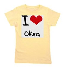 I Love Okra Girl's Tee