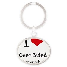 I Love One-Sided Conversations Oval Keychain