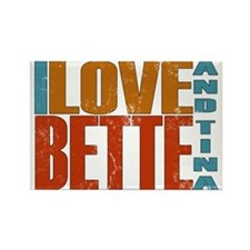 I Love Bette and Tina Rectangle Magnet