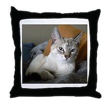 Cute Siamese cats Throw Pillow