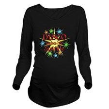 Disco Sparkles Long Sleeve Maternity T-Shirt