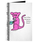 Pink Kangaroo Eating Yogurt Journal