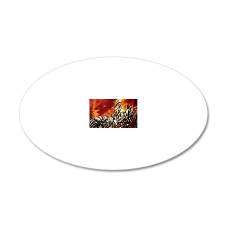 Fire in the corn field 20x12 Oval Wall Decal