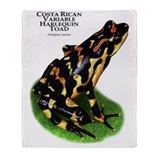 Costa Rican Variable Harlequin Toad Throw Blanket