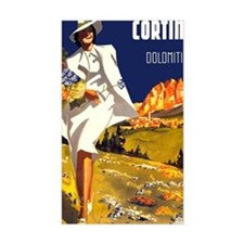Vintage Cortina Italy Travel Decal
