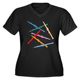 Colorful Oboes Plus Size V-Neck Dark T-Shirt