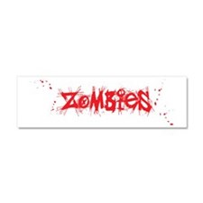 Red white Zombies (dark) Car Magnet 10 x 3