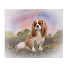 king charles cavalier spaniel Throw Blanket