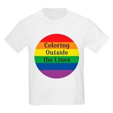 COLORING OUTSIDE LINES T-Shirt