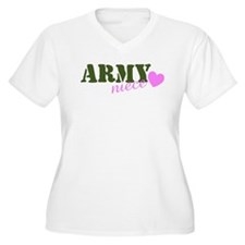 Army Niece Green & Heart T-Shirt