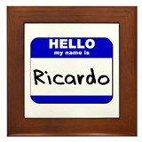 hello my name is ricardo  Framed Tile