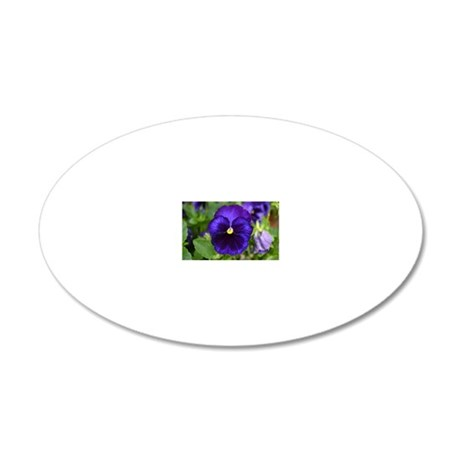 Pansy 20x12 Oval Wall Decal