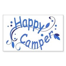 Happy Camper Blue Decal