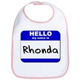 hello my name is rhonda  Bib