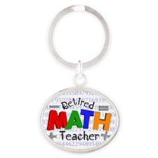 Retired Math Teacher BLANKET Oval Keychain