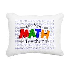 Retired Math Teacher BLA Rectangular Canvas Pillow