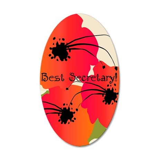 Best Secretary 35x21 Oval Wall Decal