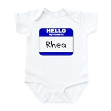 hello my name is rhea  Infant Bodysuit