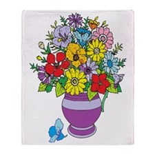 Bouquet of Flowers Throw Blanket