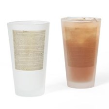 US Constitution Drinking Glass