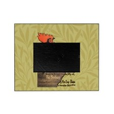 Vintage Rooster Crowing Picture Frame