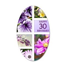 30th birthday lavender hues Wall Decal