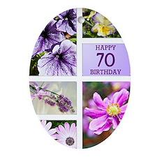 70th birthday lavender hues Oval Ornament