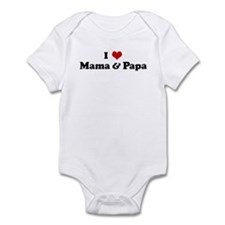 I Love Mama & Papa Infant Bodysuit