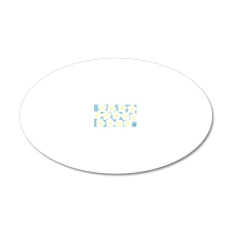 Plum blossom 20x12 Oval Wall Decal