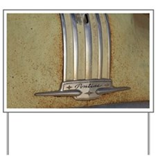 Pontiac 53 chrome Yard Sign