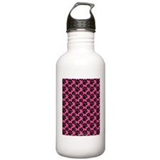 Dog Paws Bright Pink Water Bottle