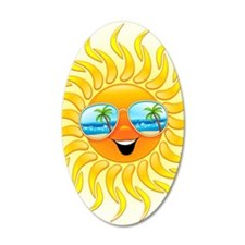 Summer Sun Cartoon with Sung Wall Decal