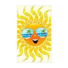 Summer Sun Cartoon with Sungla Decal