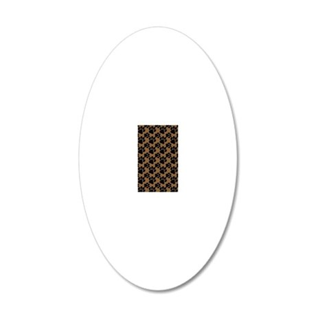 Dog Paws Brown 20x12 Oval Wall Decal