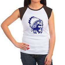 Blue Indian Head Dress Tee